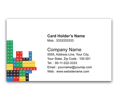 Online Flexi Business Card printing Colored Cubes