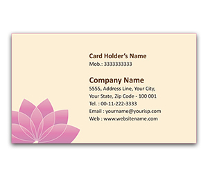 Flexi Business Card printing Yoga School
