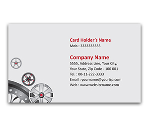 Flexi Business Card printing Car Accessories