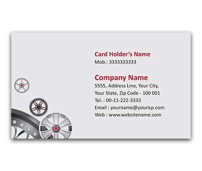 Online Flexi Business Card printing Car Accessories