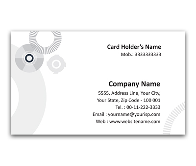 Online Flexi Business Card printing Shaft And Wheel