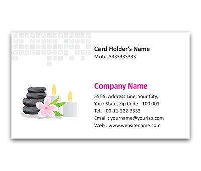 Online Flexi Business Card printing Beauty Spa