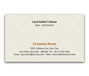Flexi Business Card printing Floral Design