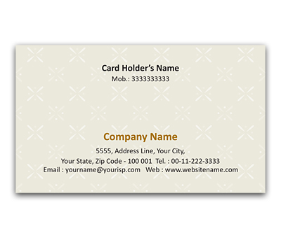 Online Flexi Business Card printing Floral Design