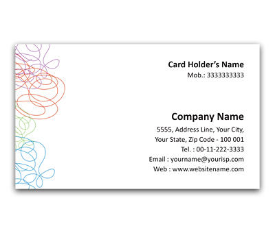 Online Flexi Business Card printing Threads