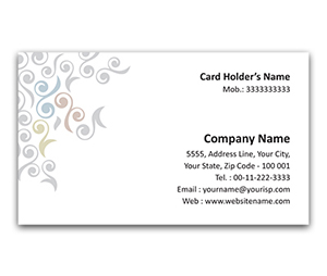 Flexi Business Card printing Organic design