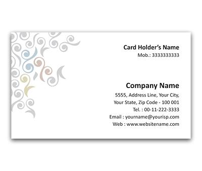 Online Flexi Business Card printing Organic design