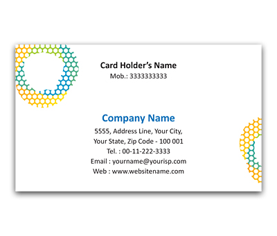 Online Flexi Business Card printing Honeycomb Grid