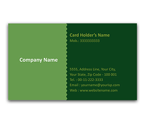 Flexi Business Card printing Fashioned Pattern