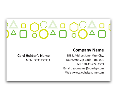 Online Flexi Business Card printing Square Code