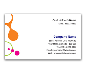 Flexi Business Card printing Interlinked Circles