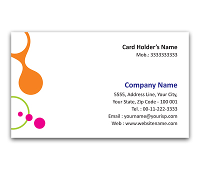 Online Flexi Business Card printing Interlinked Circles