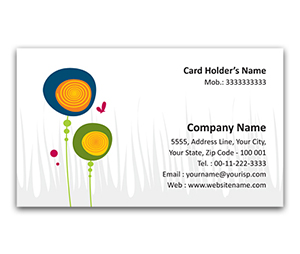 Flexi Business Card printing Abstract Flowers