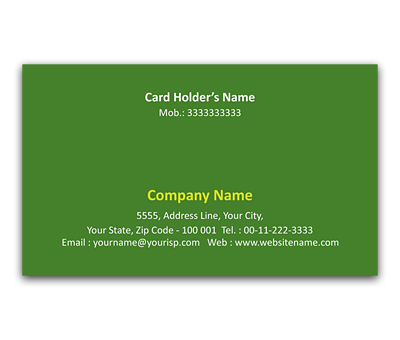 Online Flexi Business Card printing Lightened Flowers
