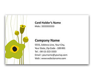 Flexi Business Card printing Graphic Flowers
