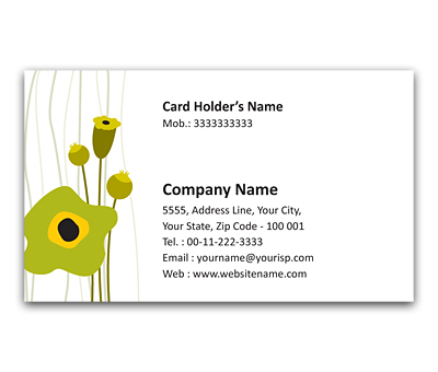 Online Flexi Business Card printing Graphic Flowers