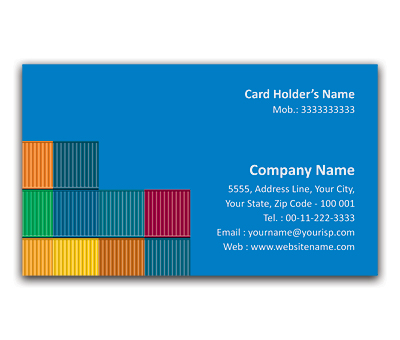 Online Flexi Business Card printing Cargo Containers