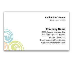 Flexi Business Card printing Coloured Dots