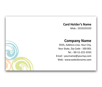 Online Flexi Business Card printing Coloured Dots