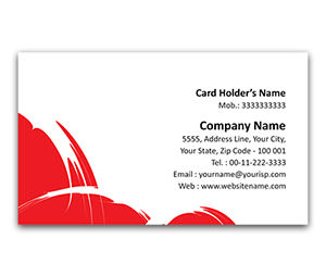 Flexi Business Card printing White Strokes