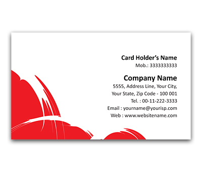 Online Flexi Business Card printing White Strokes