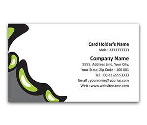 Flexi Business Card printing Oil On Water