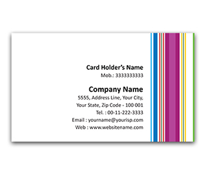 Flexi Business Card printing Pajama Stripes