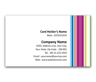 Online Flexi Business Card printing Pajama Stripes