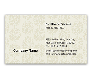 Flexi Business Card printing Mughal Arts