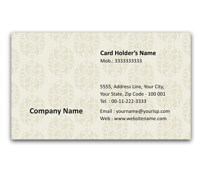 Online Flexi Business Card printing Mughal Arts