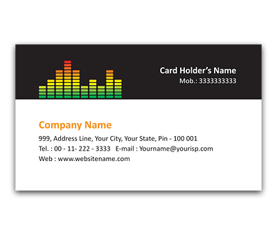Online Flexi Business Card printing Sound Visualization