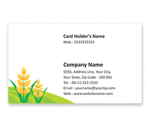 Flexi Business Card printing Water Harvesting