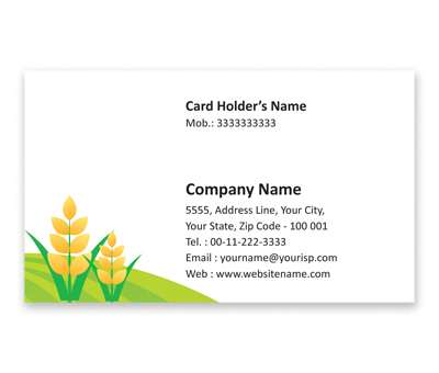 Online Flexi Business Card printing Water Harvesting