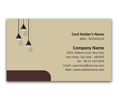 Flexi Business Card Design For Interior Designers Offset Or Digital Printing