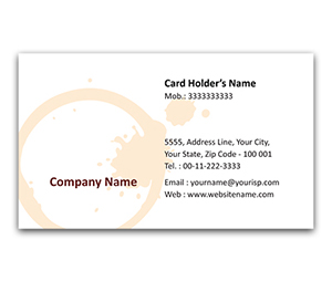 Flexi Business Card printing Coffee Inn