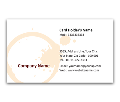 Online Flexi Business Card printing Coffee Inn