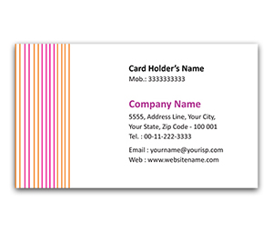 Flexi Business Card printing Menswear