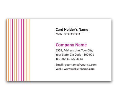 Online Flexi Business Card printing Menswear