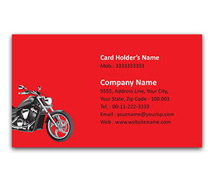 Flexi Business Card printing Royal Bike