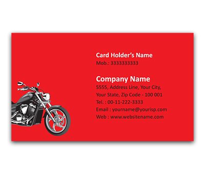Online Flexi Business Card printing Royal Bike