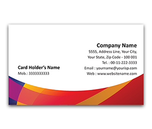 Flexi Business Card printing Golden Waves