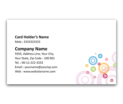 Online Flexi Business Card printing Circle over Circles