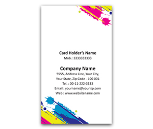 Flexi Business Card printing Floral Strokes