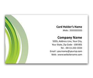 Flexi Business Card printing Grey Circles