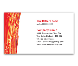 Flexi Business Card printing lighting Pattern