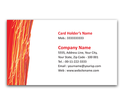 Online Flexi Business Card printing lighting Pattern