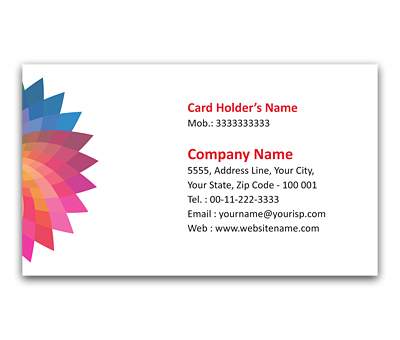 Online Flexi Business Card printing Colorful Radiation