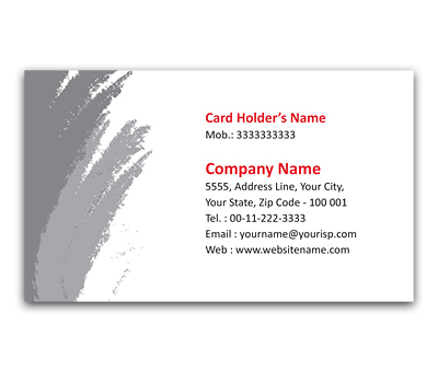 Online Flexi Business Card printing Oil Paint