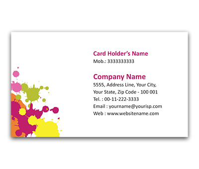 Online Flexi Business Card printing Water Colour
