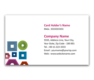 Online Flexi Business Card printing Square Pattern